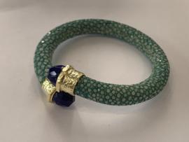 Barong Barong - Armband - Roggenleer - turkoois