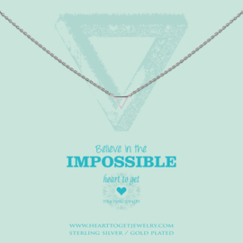 Heart to Get - S Triangle Silver Ketting