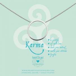 Heart to Get - Grote Karma - Ketting - Zilver