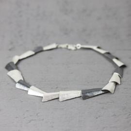 Jeh Jewels 19788 - Collier driehoekig zilver oxy