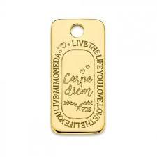 Mi Moneda Carpe Diem Square 925 Silver Gold