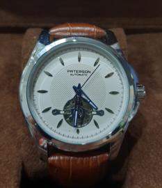 Nieuw Paterson automatisch heren pols horloge bruine band