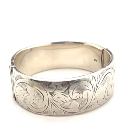 Occasion Engelse handgemaakte bangle armband  met handgravures