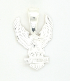 Zilveren hanger Harley Davidson Adelaar