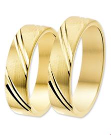 Gouden trouwringen sets