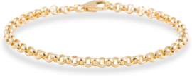 Glow armband - jasseron - geelgoud - 4 mm - 21 cm