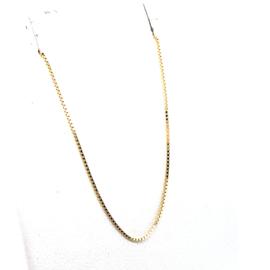 Geelgouden venetiaans collier 0.6mm 50cm