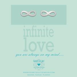 Heart to Get - Oorknoppen - Zilver - Infinity