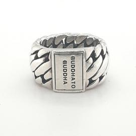Occasion zilveren Buddha to Buddha ring, model 'Ben Medium'
