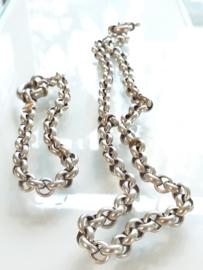 Occasion zilveren jasseron collier en armband