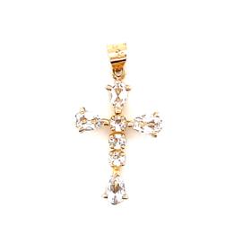 Occasion hanger gouden kruis met zirkonia's