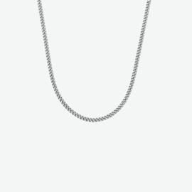 Zilveren collier gourmette 1,4 mm 36 + 4 cm