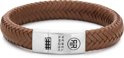 Rebel&Rose armband - Braided Oval 925 - Handsome In Khaki