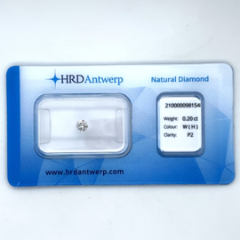 HRD Diamant - 0.20 ct. - briljant - H P2