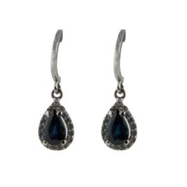 Cataleya Earrings Diana Dark Blue Sapphire