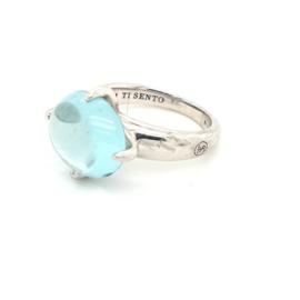Occasion Ti Sento - Milano ring met blauwe synthetisch kristal