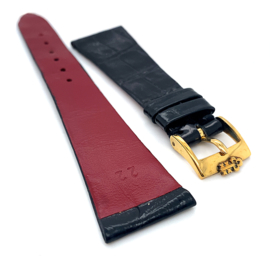 Corum krokodillen lederen horloge band zwart 22mm