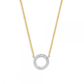Blush Ketting 3065BZI - Geel en Wit goud met Zirconia