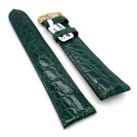 Originele Cartier lederen horloge band groen 18mm