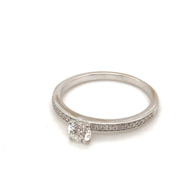 Occasion witgouden Steinberg ring met diamant 0,54ct