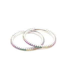 Regenboog ring set - per 2