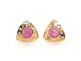 Cataleya Earrings Triangle Pink