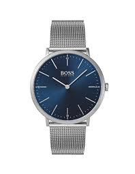 HUGO BOSS BLACK Gents Horizon Qtz SS Rnd Blu Dial SS Mesh Band