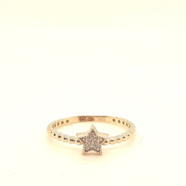 Gouden ring met ster
