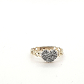 Gouden hartjes ring