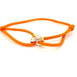 Armband satijn oranje 3 rondjes