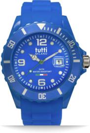 Tutti Milano TM002BL- Horloge - 42.5 mm - Blauw - Collectie Pigmento