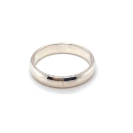 zilveren gladde ring lichtbol maat 19