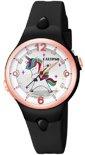 Calypso K5784/8 analoog unicorn horloge 34 mm 100 meter zwart/ rosé