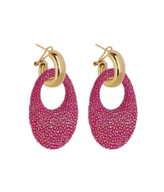 AMJOYA Earrings Marbella Hot Pink