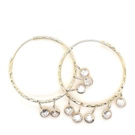 Gouden oorring oorbellen met zirkonia
