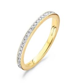 Blush Ring 1119BZI - Geel en Wit Goud met Zirconia
