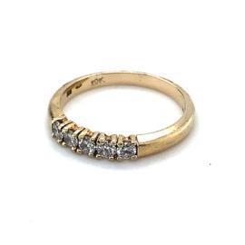 Occasion gouden Le Chic rijring met 5 diamanten 0.40ct