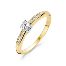 Blush Ring 1155BZI - Geel en Wit Goud met Zirconia