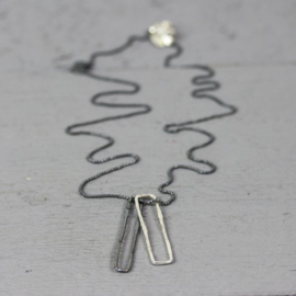 Jeh Jewels 19806 - Collier paperclip zilver oxy