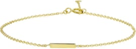 Armband Balkje 1,1 mm 16,5 - 18,5 cm - Geelgoud