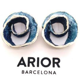 ARIOR Barcelona oorknoppen blauw