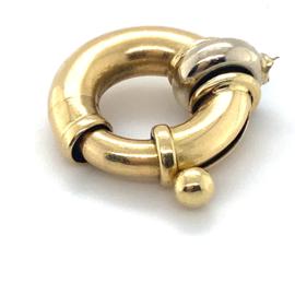 Occasion bicolor gouden veerring 21,5mm