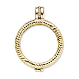 Mi Moneda Classic pendant Granada Gold Plated/Swarovski Crystal - M