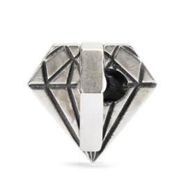 Trollbeads Ongeslepen diamant | Diamant in de ruwe kraal
