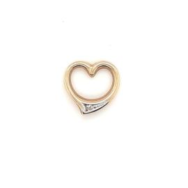 Occasion hanger open hart met diamantje
