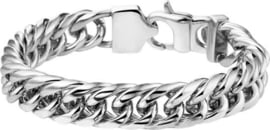 The Jewelry Collection - armband - Gourmet 11 mm 22 cm - Staal