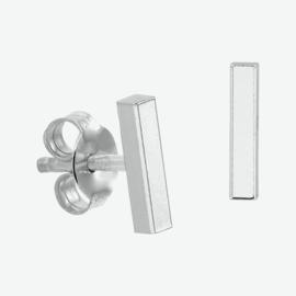 Zilveren oorknoppen balkje