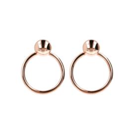 Hoop Earrings Ball Golden Rosè
