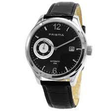 Prisma Herenhorloge automatic P.2156 Lederen band zwart