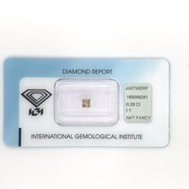 IGI diamant - 0.28 ct. - Princess slijpsel